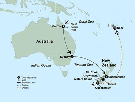 South Pacific Wonders (16 Days, Alternative)