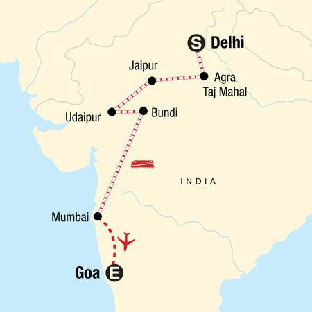 West Coast India and Rajasthan by Rail