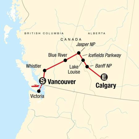 Discover the Canadian Rockies Eastbound
