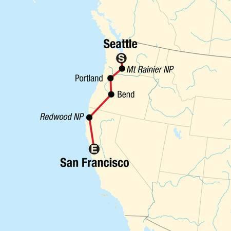 USA Road Trip Pacific Northwest