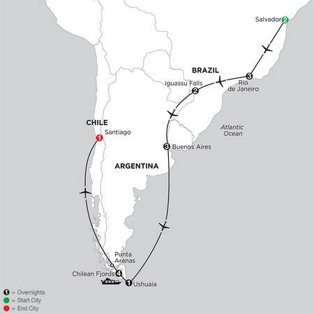 South American Selection with Salvador and Chilean Fjords Cruise (ISIX2020)