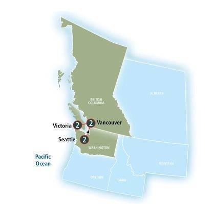 6-Nights Seattle, Vancouver & Victoria Rail Journey