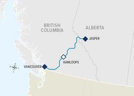1-Night Journey through the Clouds - Jasper to Vancouver Rail Only 2020