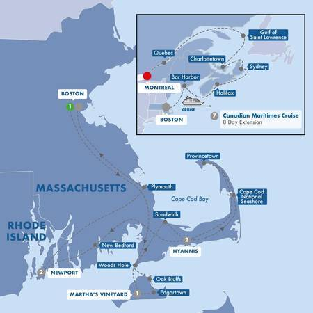 Boston, Cape Cod, and Marthas Vineyard with Canadian Maritimes Cruise Vista Stateroom
