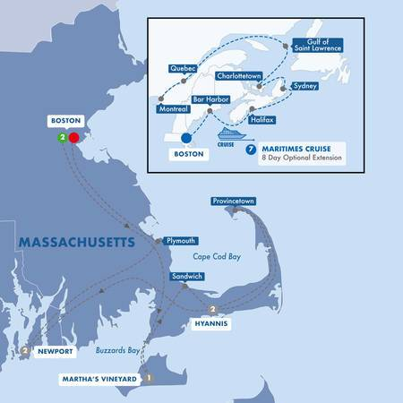 Cape Cod Delights with Canadian Maritimes Cruise Ocean View Stateroom