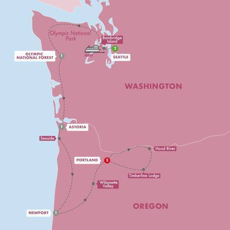 Scenic Seattle, Portland and Oregon Coast