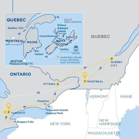 Essence of Eastern Canada with Maritimes Cruise Vista Suite